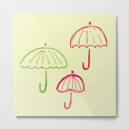 Happy Umbrella Metal Print