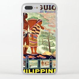 Vintage poster - Philippines Clear iPhone Case