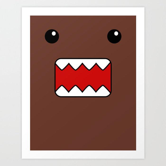 Domo Kun - Brown Japanese Monster Art Print