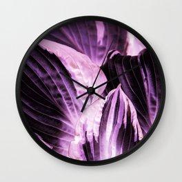 Dark Night - Purple Leaves #1 #decor #art #society6 Wall Clock