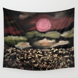 Fields of Gold - Surreal starry night Wall Tapestry