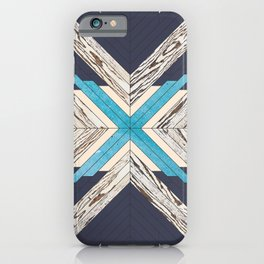 Abstract and Colorful Grainy Wood Geometric Pattern iPhone Case