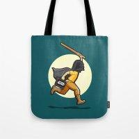 darth Tote Bags featuring Darth Harry by Rabassa