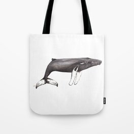 Humpback whale Megaptera Tote Bag