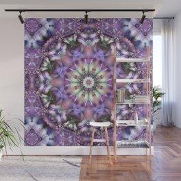 Lilac Mandala Wall Mural