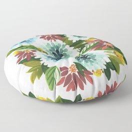 Blue Floral Floor Pillow