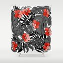 Tropical Flower Pattern - Black and White by aelins