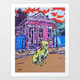 Yellow Chihuahua Needs a Home Art Print