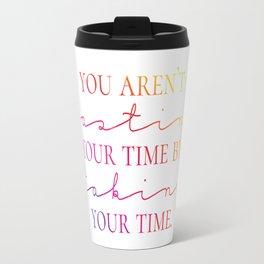 Taking Time - Rainbow Typography Travel Mug