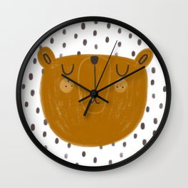 Patterned Bear Wall Clock