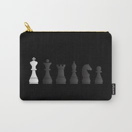 All black one white chess pieces Carry-All Pouch