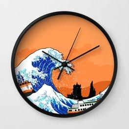 Big wave Lisbon Wall Clock