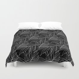 Black leaves Duvet Cover