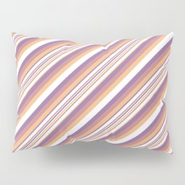 Orchid Indigo Beige Inclined Stripes Pillow Sham