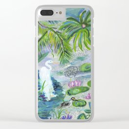 Pond in the Morning Clear iPhone Case
