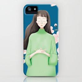 Peace Flower Girl iPhone Case