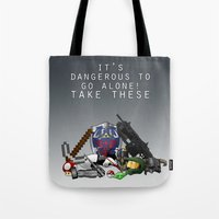 gamer Tote Bags featuring Gamer  by Ioana Muresan