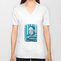pablo picasso V-neck T-shirts featuring Picasso by Alex Bardera