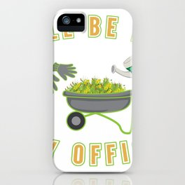 Gardener landscaping gardening office gift iPhone Case