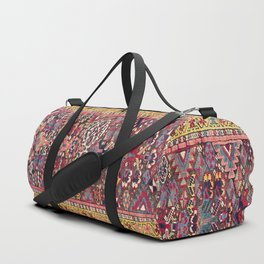 Kolyai Long Antique Persian Kurdish Rug Duffle Bag
