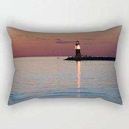 Lighthouse at the Blue Hour Rectangular Pillow