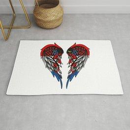 Croatian wings art Rug