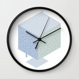 3D labyrinth Wall Clock