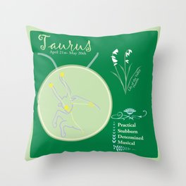 Taurus May Throw Pillow