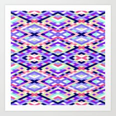 Smart Diagonals Coral Art Print