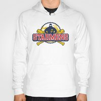 earthbound Hoodies featuring Starmens by MeleeNinja