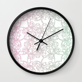 Cotton Candy Fretwork Wall Clock