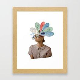Femme active Framed Art Print