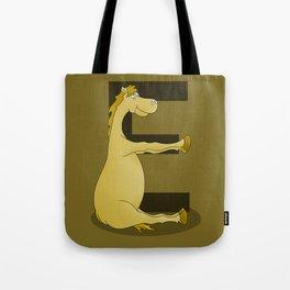 Pony Monogram Letter E Tote Bag