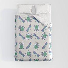 Dragonflies and Beetles Mini Duvet Cover