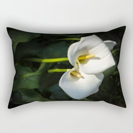 Close-up of Giant White Calla Lily Rectangular Pillow