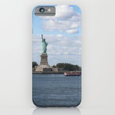 Lady Liberty at the harbor iPhone 6s Slim Case