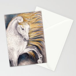 Andalusian Dapple Horse Watercolor Stationery Cards