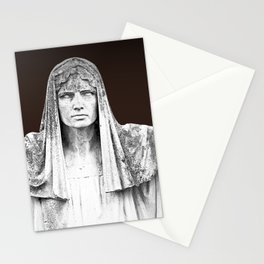 The destiny goddess  - Art deco statue of woman with peplum Stationery Cards