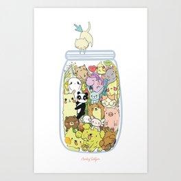 Animal pills Art Print