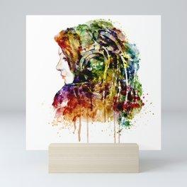 The Girl is a DJ Mini Art Print