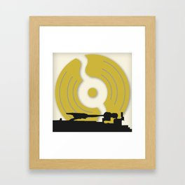 Put The Needle On The Record Framed Art Print