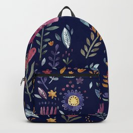 Watercolor Flowers Backpack