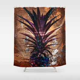Copper Leaf Pineapple Art #buyart Shower Curtain