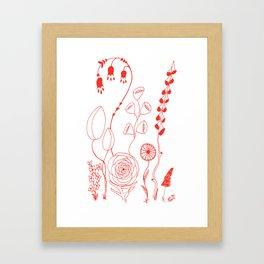 Flowers orange illustration Framed Art Print