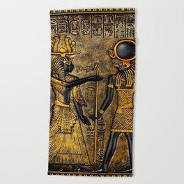 Egyptian Gods Beach Towel