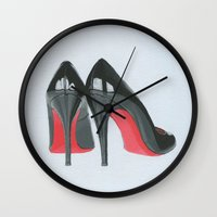 heels Wall Clocks featuring Louboutin Heels by Cocostyle Studio