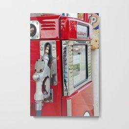 Vintage Gas Pump 3 Metal Print