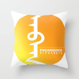 Endangered Alphabets logo Throw Pillow