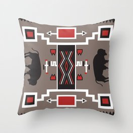 American Native Pattern No. 161 Throw Pillow