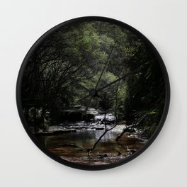 Blue Mountains Creek Wall Clock
